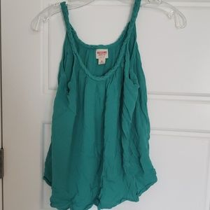 Gently used turquoise tank top